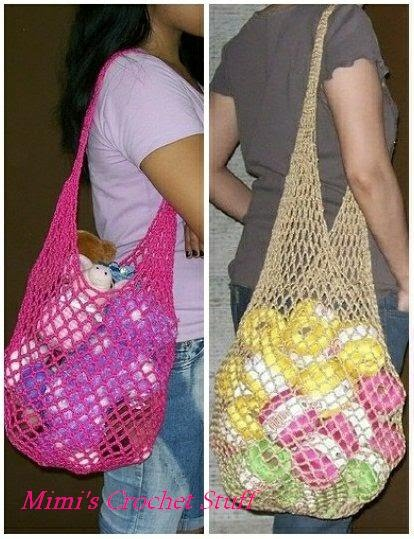 Knitting Pattern Mesh Bag : crochetpatterns - mimicsa