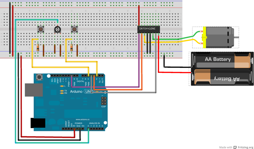 Step 4: wire up the motor - My Arduino Notes  Wire Dc Motor Diagram on