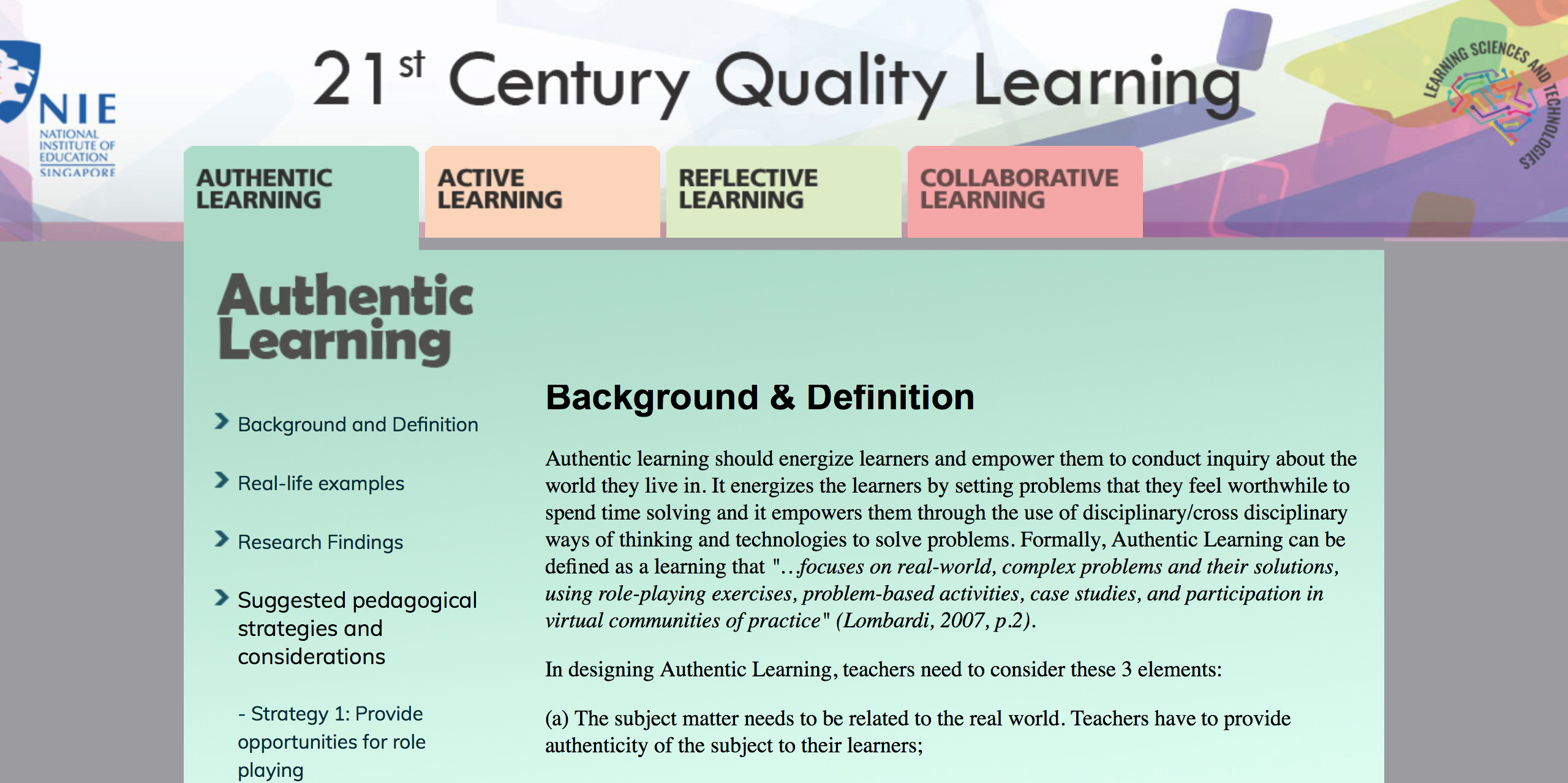 What does meaningful learning mean