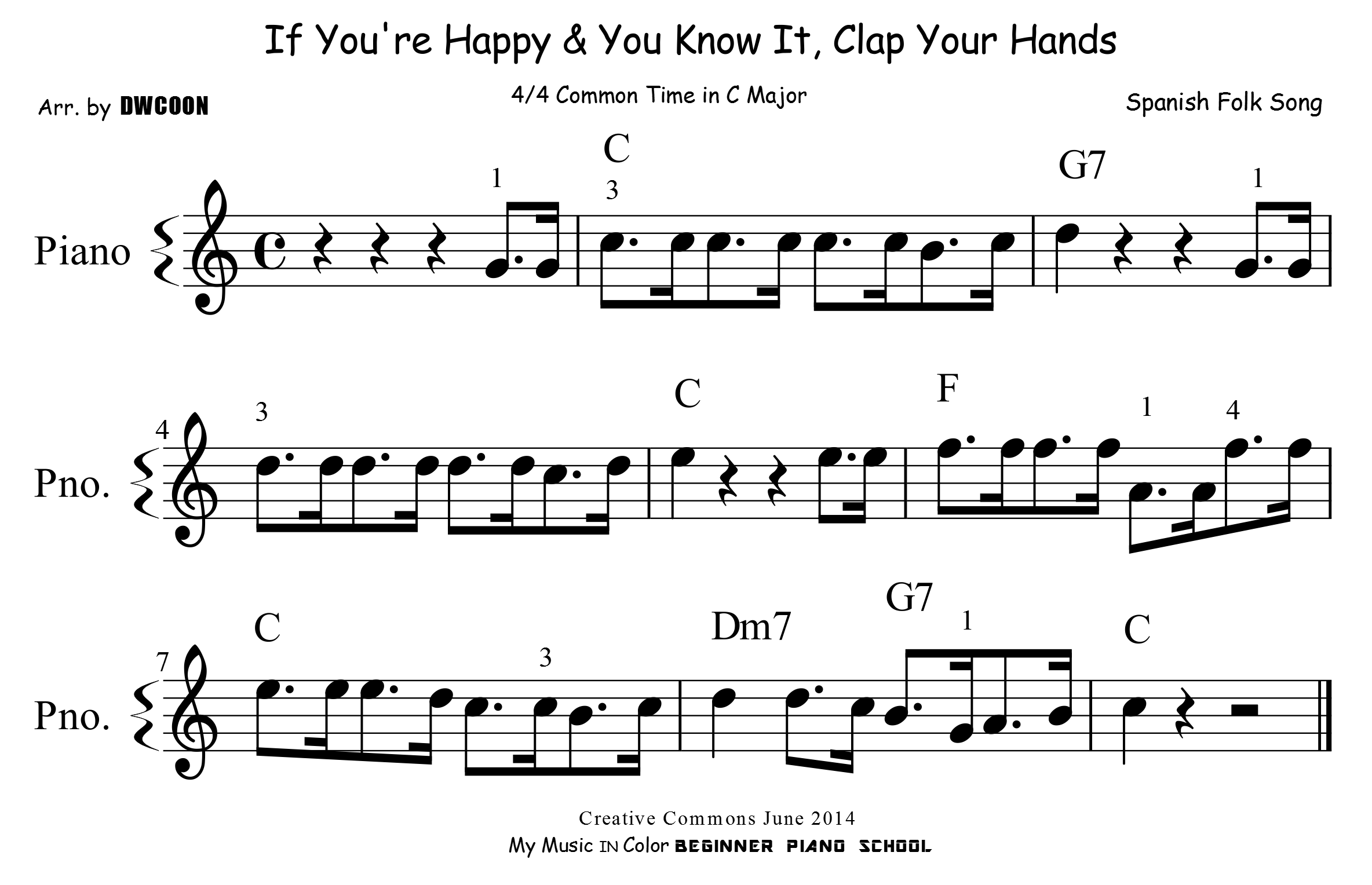 If you 39 re happy and you know it my music in color for If you re happy and you know it coloring page