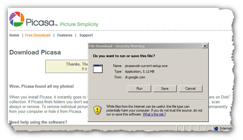 picasa-download-installation-steps - myphotomontage
