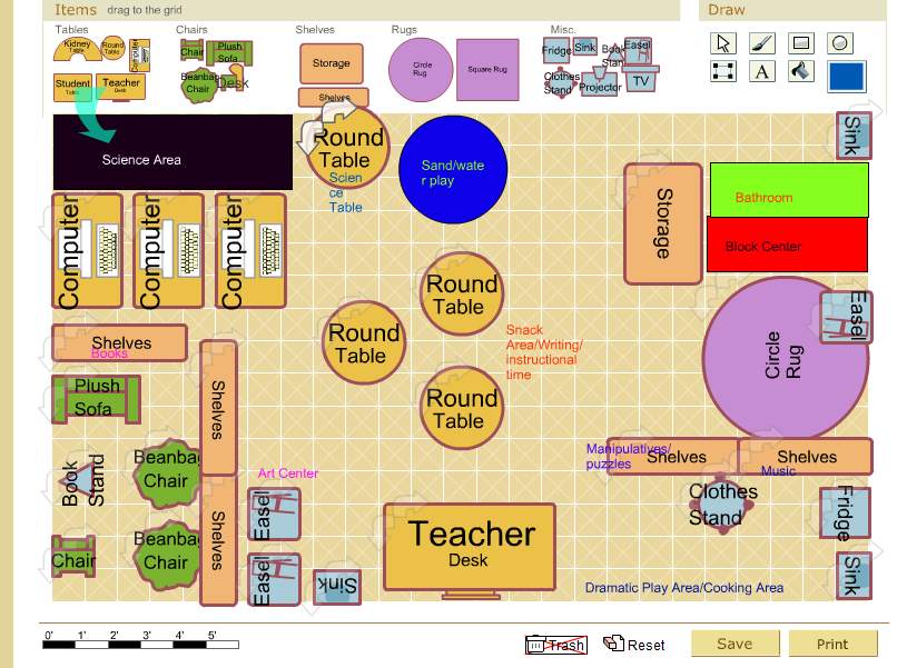 School Classroom Design Standards : Preschool floor plan future classroom layout youtube day
