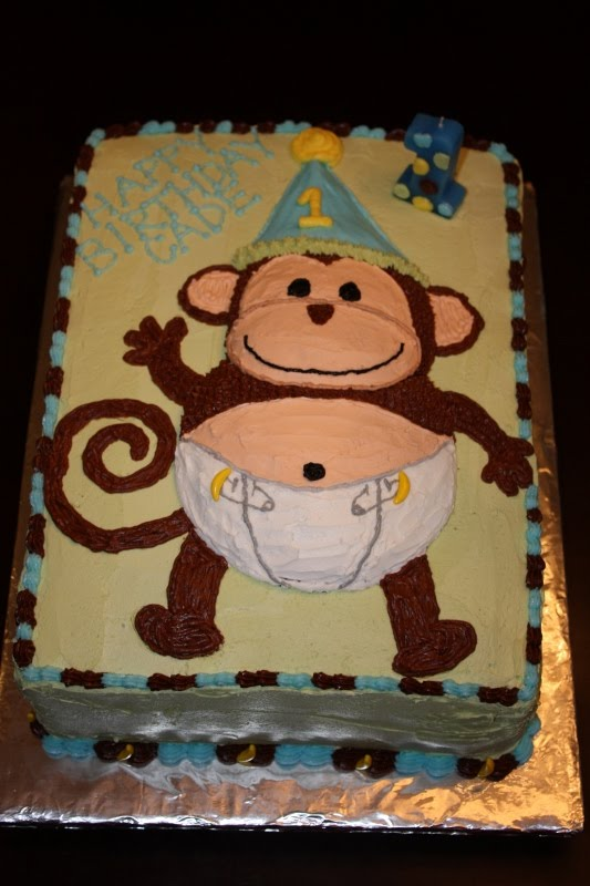 Swell 1St Monkey Nanas Birthday Cakes Personalised Birthday Cards Paralily Jamesorg