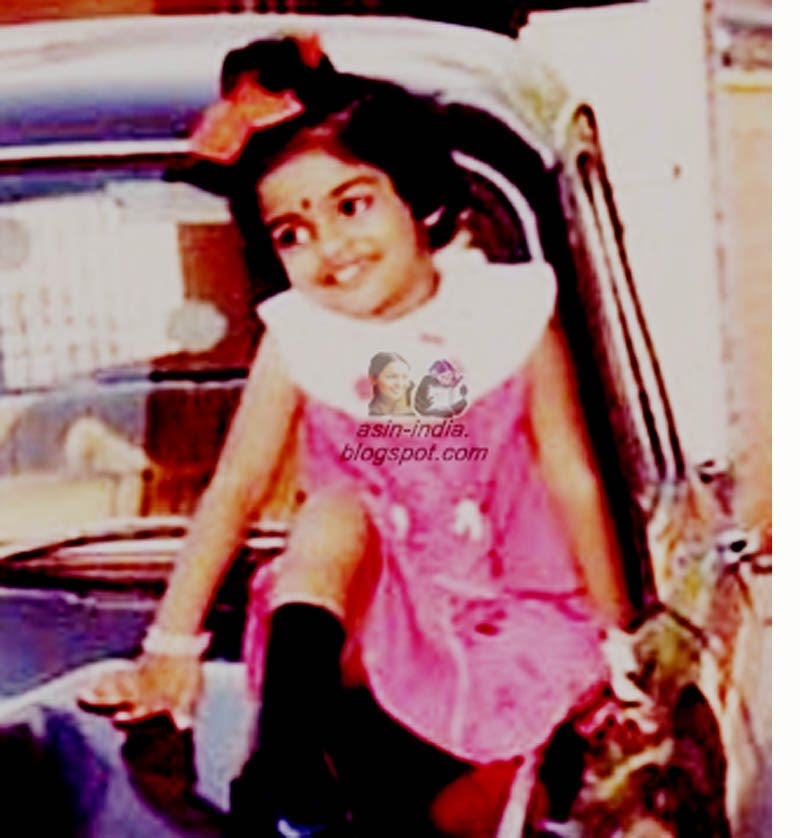 indian actress asin childhood photo