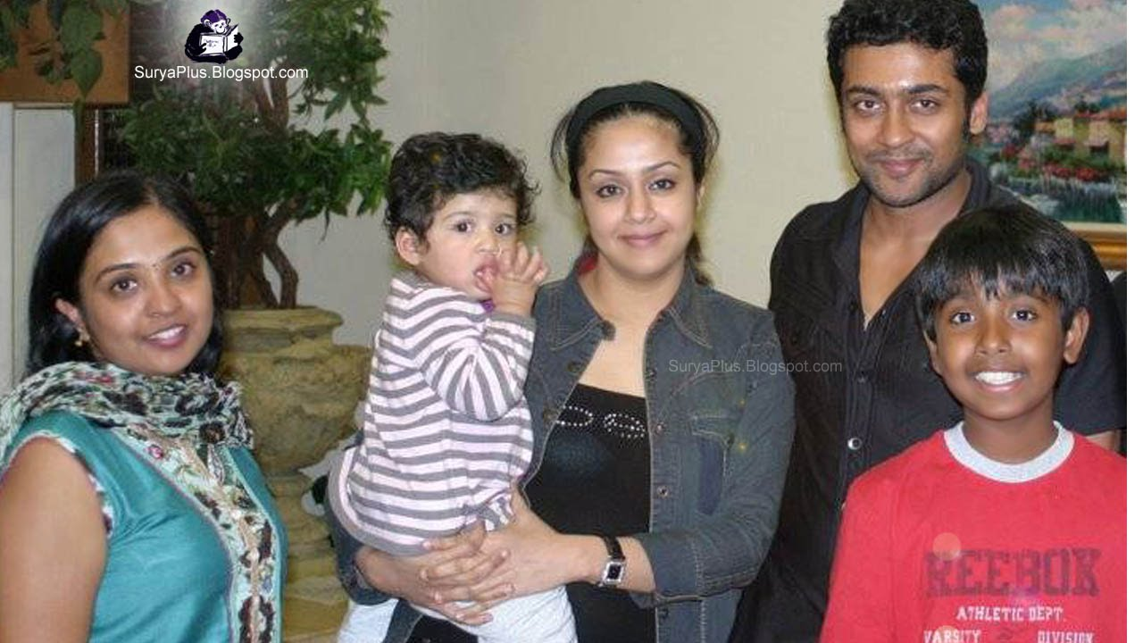 surya jyothika family photo album: sruya 11