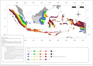 New Indonesian Earthquake Map 2011 (Equal Risk, Ss)