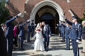 Military wedding picture packages always get a discount