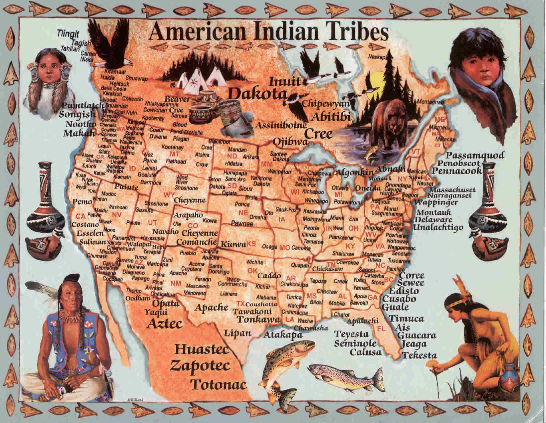 Native American Way - Us native american map