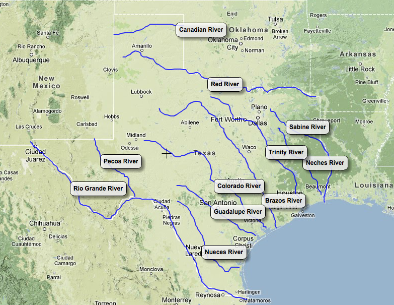 Map Of Texas Landforms.Rivers Landforms Of Texas Natural Texas And Its People