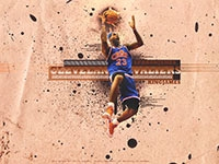 LeBron James Dunk Widescreen Wallpaper