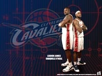 Shaq and LeBron Cavaliers Wallpaper