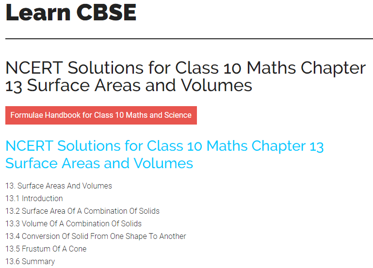 Cbse Class 10 Maths Solutions Pdf