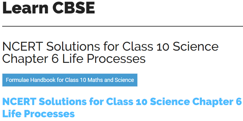 ncert science solution for class 10
