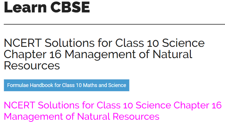 learncbse in ncert solutions class 10 science