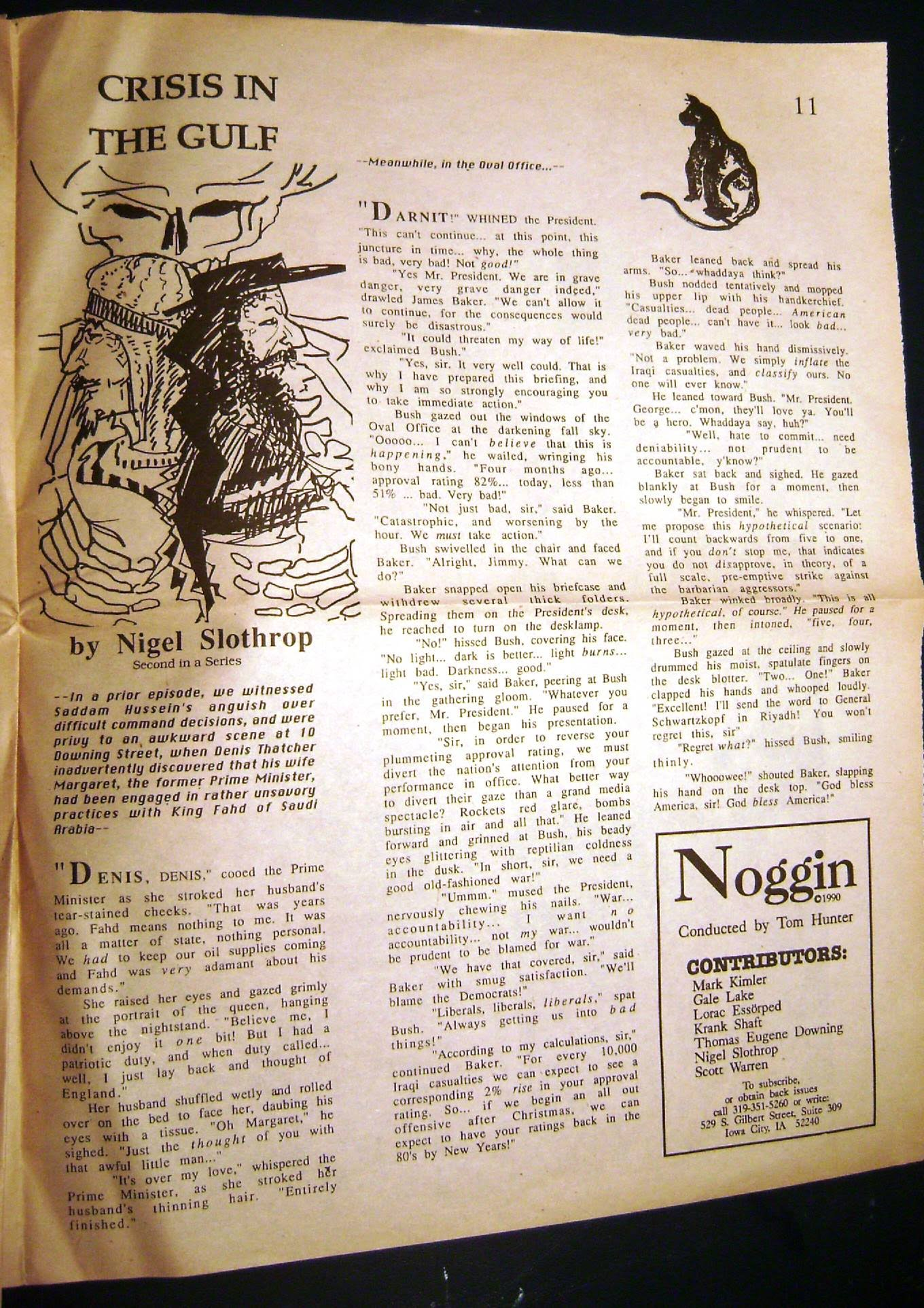 Noggin Magazine: V1N2, Nov/Dec 1990, Page 11
