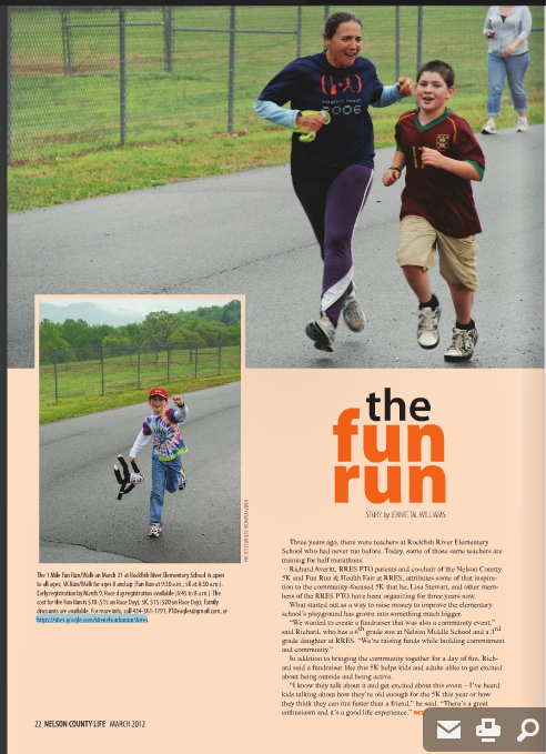 Nelson County Life article, March 2012 issue, page 22.