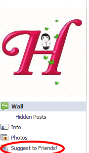 Suggest to Friends button for Facebook page