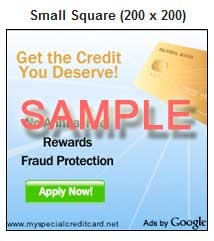 AdSense Small Square Ad Sample