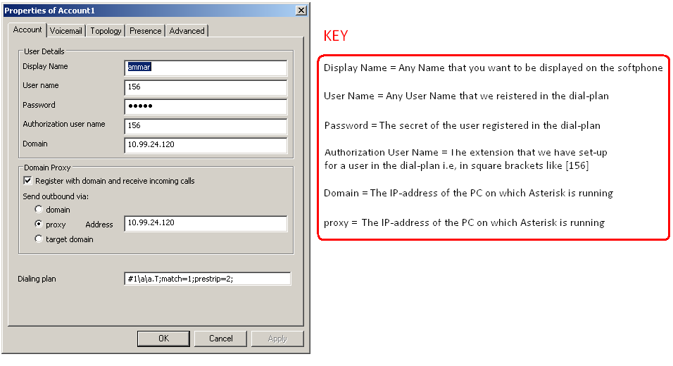 Configuration of Softphone for Windows - Computer Networks