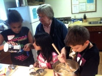 making cookies at Kidz Club