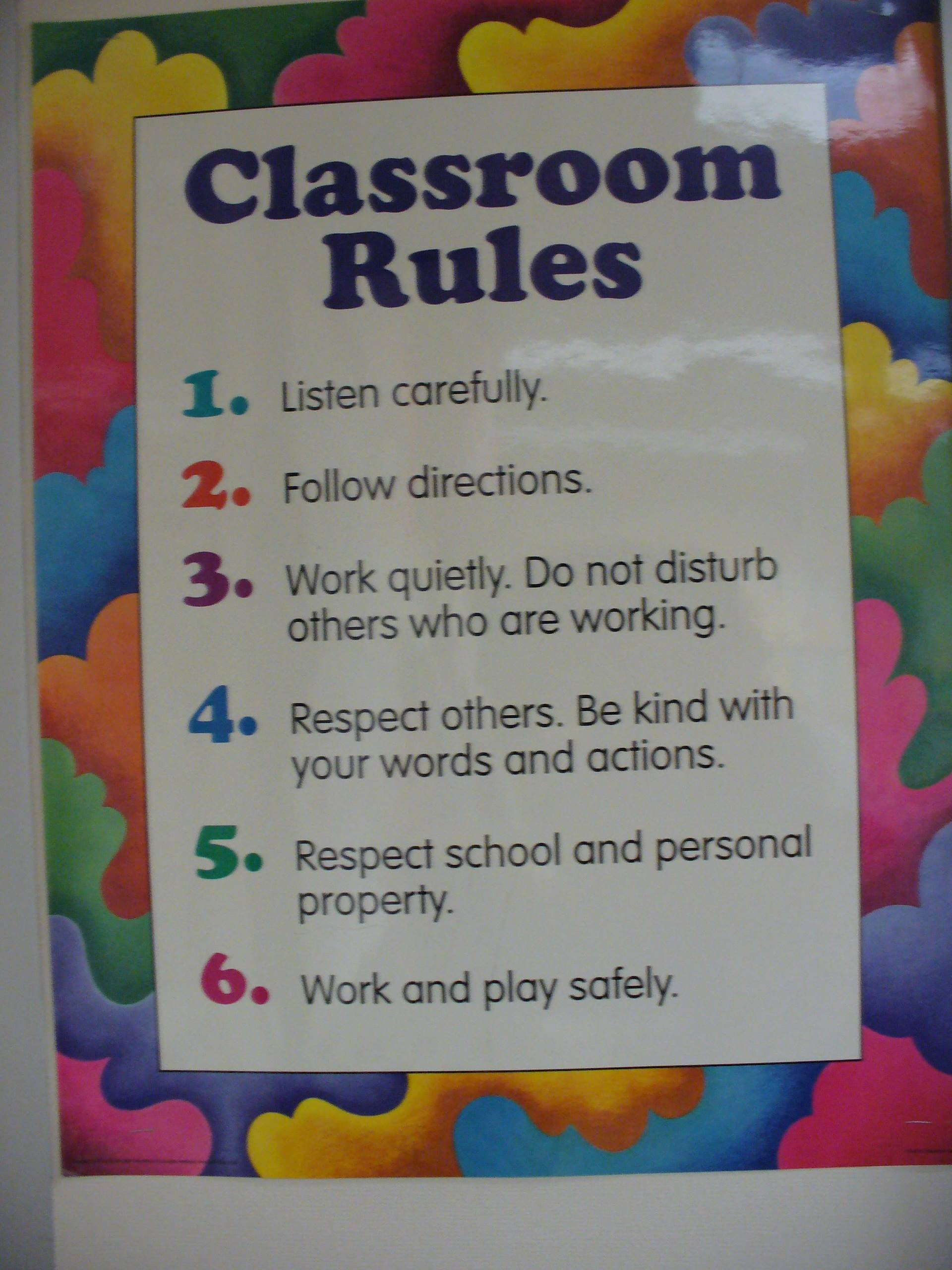 Elementary Classroom Rules ~ Classroom rules for elementary students pictures to pin on