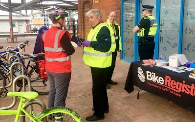 Helping out with bike registration