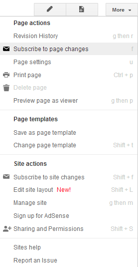 Subscribe to page changes - NIeFolio Help Site for Students