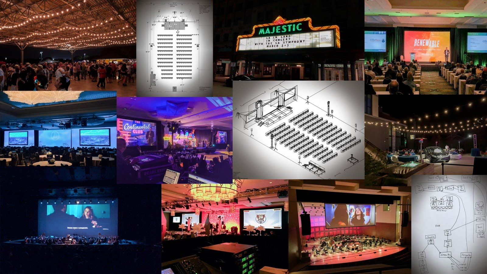 Night Owl Recording Event Production Collage 2018 v4