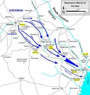 Sherman\\\\\\\\\\\\\\\'s March To The Sea Map Sherman's March To The Sea   Niko's Civil War Project