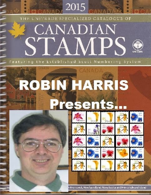 Robin Harris of Adminware presents at the North Toronto Stamp Club the Serpentine Die Cut Stamps of Canada.