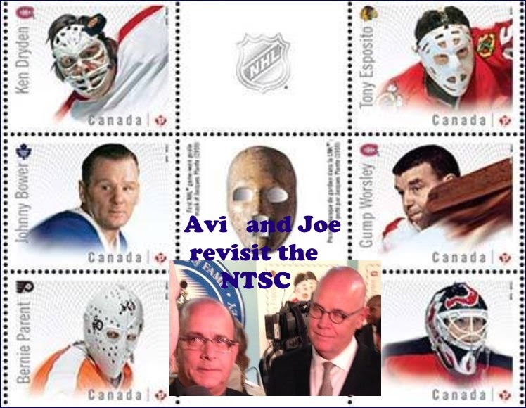 NHL Goalies on Stamps by Avi and Joe, Canadian Stamp Designers
