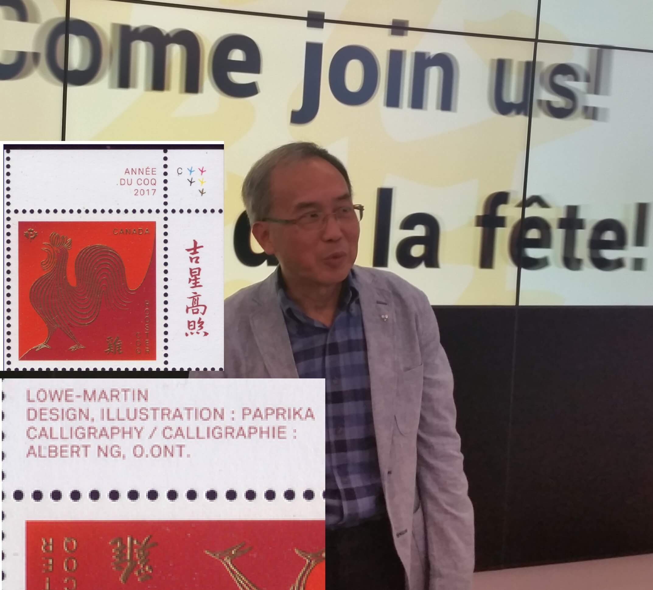 Stamp Graphic Artist Dr Albert Ng