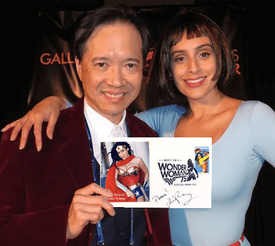 Derwin and Wonderwoman with FDC
