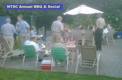 Stamp Club Members enjoying the Annual Barbeque BBQ