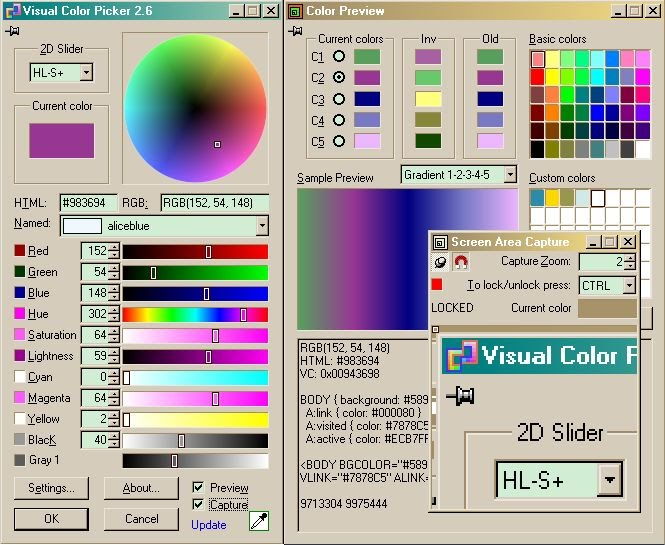 Visual Color Picker