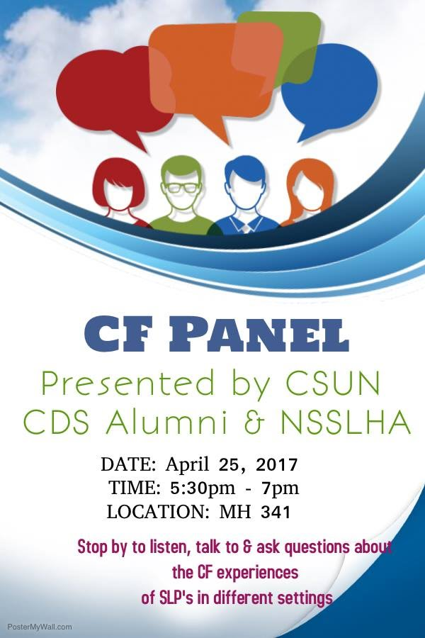 CSUN NSSLHA and CDS Alumni Association Present: CF Panel - NSSLHACSUN