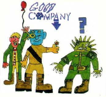 'Good Company' by Nathan, printed in Prog 847 of 2000AD. (1993)