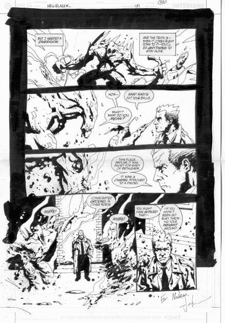 Page 20, Hellblazer #181: 'A Game Of Cat And Mouse', by Jock