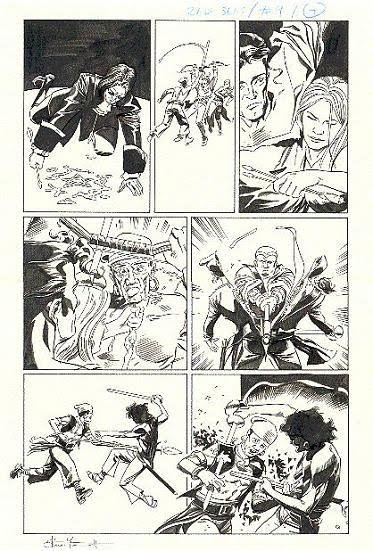 Page 4, The Red Seas: 'Under The Banner Of King Death' #9, by Steve Yeowell