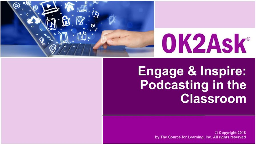 Engage & Inspire: Podcasting in the Classroom Session Title Slide Image