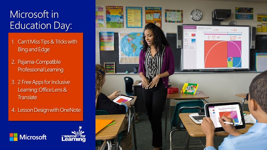Microsoft in Education Day Image Listing all 4 session titles