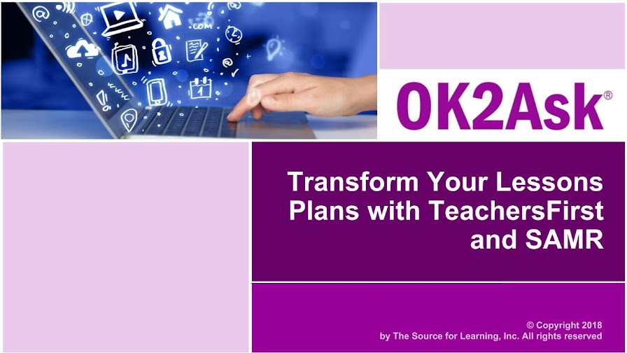 Title Slide Image for Transform Your Lesson Plans with TeachersFirst and SAMR