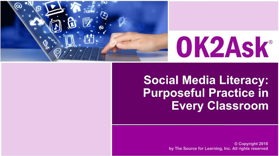 Title Slide Image for Social Media Literacy: Purposeful Practice in Every Classroom