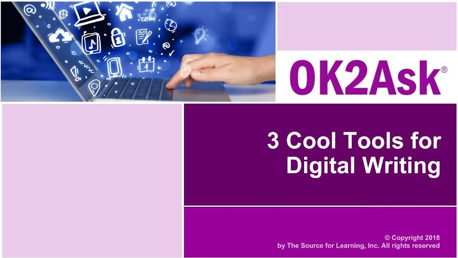 Title Slide Image for 3 Cool Tools for Digital Writing