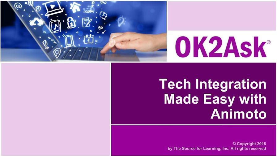 Title Slide Image for Tech Integration Made Easy with Animoto