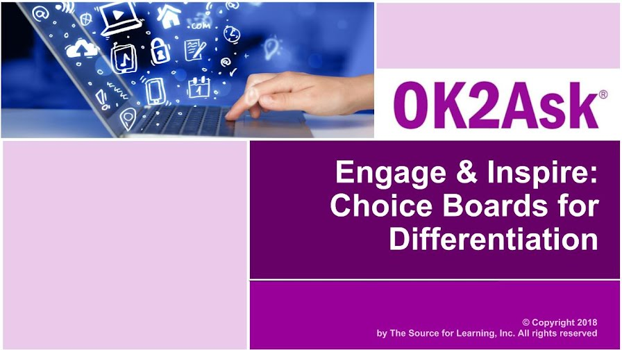 Title Slide Image for Engage & Inspire: Choice Boards for Differentiation