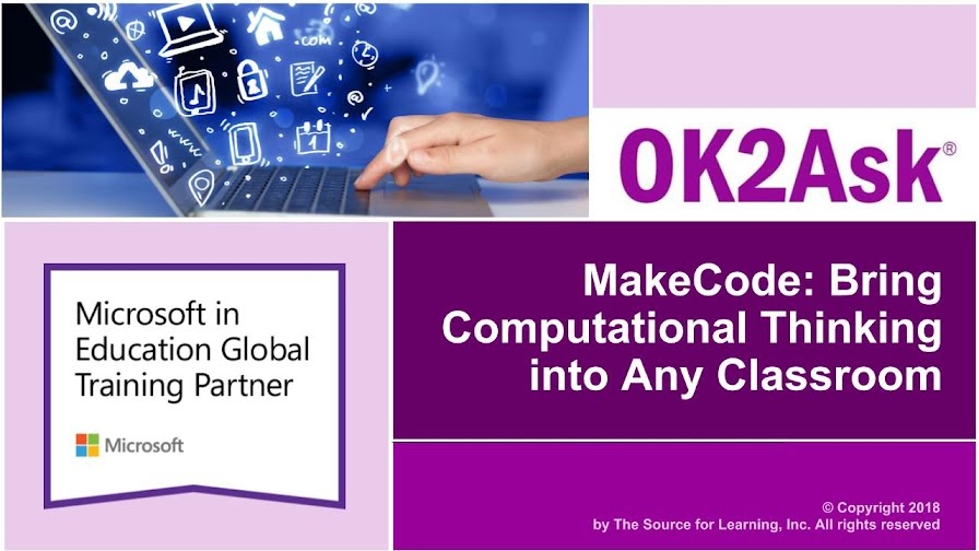 Title Slide Image for MakeCode: Bring Computational Thinking into Any Classroom