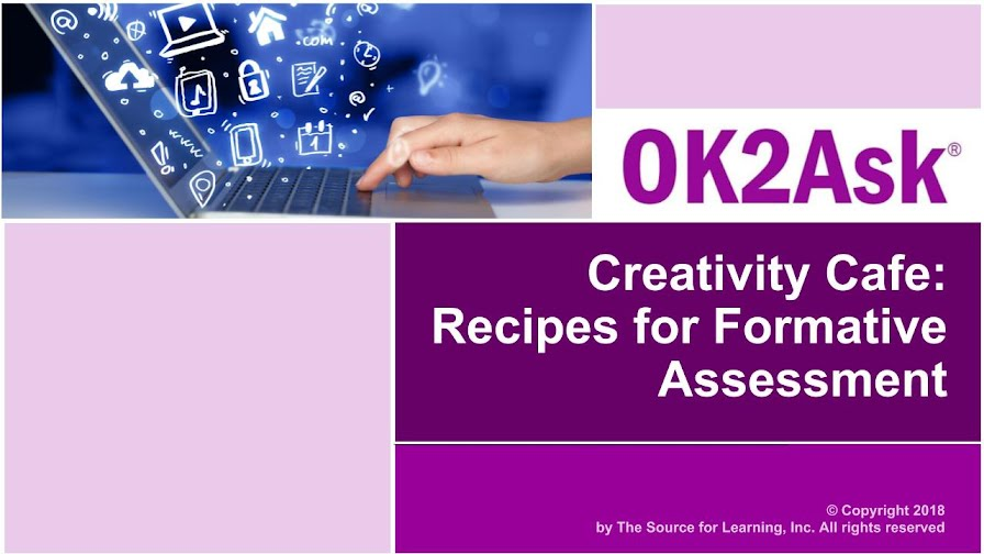 Title Slide Image for Creativity Cafe: Recipes for Formative Assessment