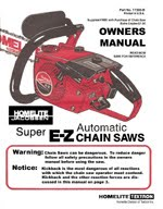 Homelite Super EZ Chain Saw Package - Old Manuals