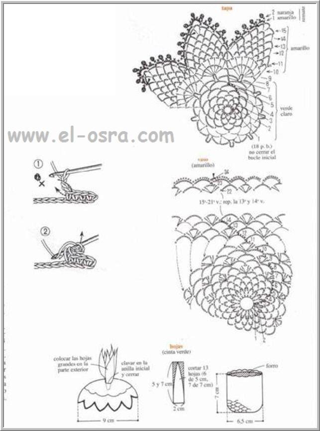 ديكورات كروشيه بالباترون غايه فى الجمال  Miniadornos20a20ganchillo2001115